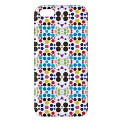 Colorful Dots Pattern Iphone 5s Premium Hardshell Case by LalyLauraFLM