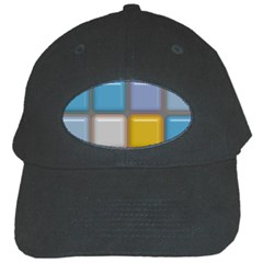 Shiny Squares Pattern Black Cap by LalyLauraFLM