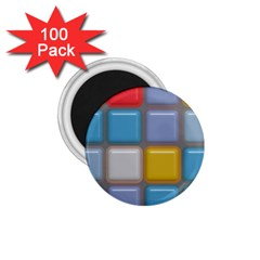 Shiny Squares Pattern 1 75  Magnet (100 Pack)  by LalyLauraFLM