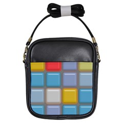 Shiny Squares Pattern Girls Sling Bag by LalyLauraFLM
