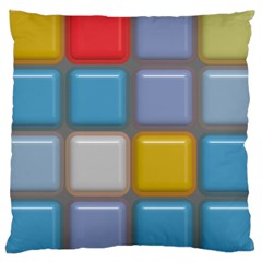 Shiny Squares Pattern Large Cushion Case (two Sides) by LalyLauraFLM