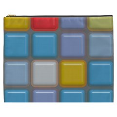 Shiny Squares Pattern Cosmetic Bag (xxxl) by LalyLauraFLM