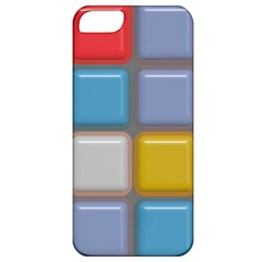 Shiny Squares Pattern Apple Iphone 5 Classic Hardshell Case by LalyLauraFLM