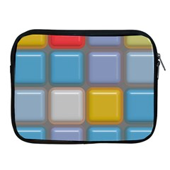 Shiny Squares Pattern Apple Ipad 2/3/4 Zipper Case by LalyLauraFLM