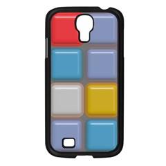 Shiny Squares Pattern Samsung Galaxy S4 I9500/ I9505 Case (black) by LalyLauraFLM