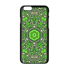 Crazy Beautiful Abstract  Apple Iphone 6 Black Enamel Case by OCDesignss