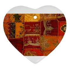 India Print Realism Fabric Art Ornament (heart)  by TheWowFactor