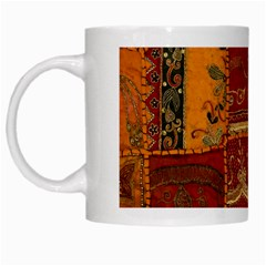 India Print Realism Fabric Art White Mugs by TheWowFactor