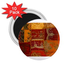 India Print Realism Fabric Art 2 25  Magnets (10 Pack)  by TheWowFactor