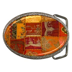 India Print Realism Fabric Art Belt Buckles by TheWowFactor