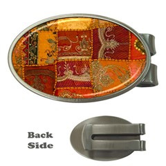 India Print Realism Fabric Art Money Clips (oval)  by TheWowFactor