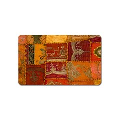 India Print Realism Fabric Art Magnet (name Card) by TheWowFactor
