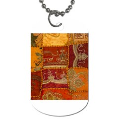 India Print Realism Fabric Art Dog Tag (one Side) by TheWowFactor