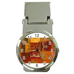 India Print Realism Fabric Art Money Clip Watches by TheWowFactor