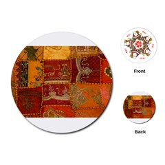India Print Realism Fabric Art Playing Cards (round)  by TheWowFactor