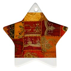 India Print Realism Fabric Art Star Ornament (two Sides)  by TheWowFactor
