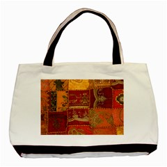 India Print Realism Fabric Art Basic Tote Bag (two Sides)  by TheWowFactor