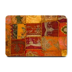 India Print Realism Fabric Art Small Doormat  by TheWowFactor