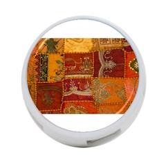 India Print Realism Fabric Art 4 Port Usb Hub (two Sides)  by TheWowFactor