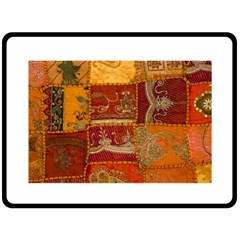 India Print Realism Fabric Art Fleece Blanket (large)  by TheWowFactor