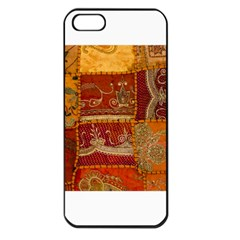 India Print Realism Fabric Art Apple Iphone 5 Seamless Case (black) by TheWowFactor