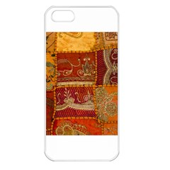India Print Realism Fabric Art Apple Iphone 5 Seamless Case (white) by TheWowFactor