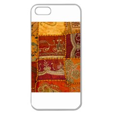 India Print Realism Fabric Art Apple Seamless Iphone 5 Case (clear) by TheWowFactor