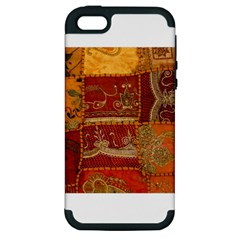 India Print Realism Fabric Art Apple Iphone 5 Hardshell Case (pc+silicone) by TheWowFactor