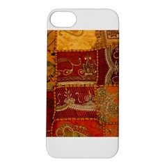 India Print Realism Fabric Art Apple Iphone 5s Hardshell Case by TheWowFactor