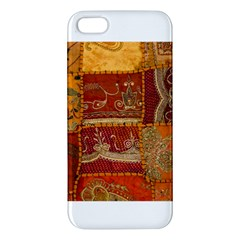 India Print Realism Fabric Art Iphone 5s Premium Hardshell Case by TheWowFactor