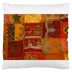 India Print Realism Fabric Art Standard Flano Cushion Cases (one Side)  by TheWowFactor