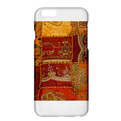 India Print Realism Fabric Art Apple Iphone 6 Plus Hardshell Case by TheWowFactor