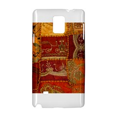 India Print Realism Fabric Art Samsung Galaxy Note 4 Hardshell Case by TheWowFactor