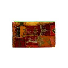 India Print Realism Fabric Art Cosmetic Bag (xs) by TheWowFactor