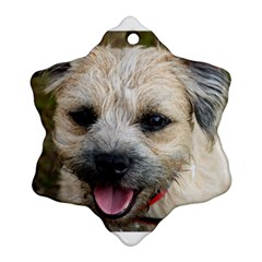 Border Terrier Ornament (Snowflake)  by TailWags