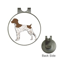 German Shorthair Pointer Silo Color Hat Clips with Golf Markers by TailWags