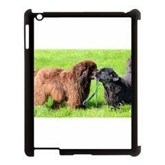 2 Newfies Apple iPad 3/4 Case (Black) by TailWags