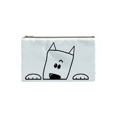 Peeping Westie Cosmetic Bag (Small)  by TailWags