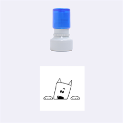 Peeping Westie Rubber Round Stamps (Small) by TailWags