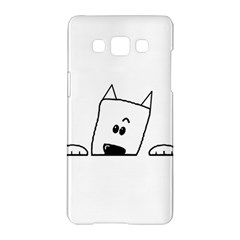 Peeping Westie Samsung Galaxy A5 Hardshell Case  by TailWags
