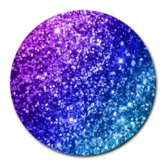 Glitter Ocean Bokeh Round Mousepads by KirstenStar
