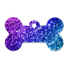 Glitter Ocean Bokeh Dog Tag Bone (two Sides) by KirstenStar
