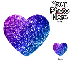 Glitter Ocean Bokeh Multi Purpose Cards (heart)  by KirstenStar