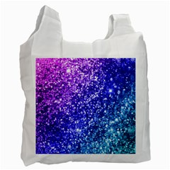 Glitter Ocean Bokeh Recycle Bag (one Side) by KirstenStar