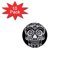 Skull 1  Mini Buttons (10 Pack)  by ImpressiveMoments