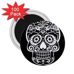 Skull 2 25  Magnets (100 Pack)