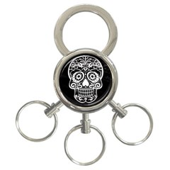 Skull 3 Ring Key Chains