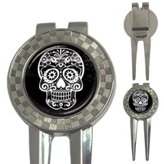 Skull 3 In 1 Golf Divots