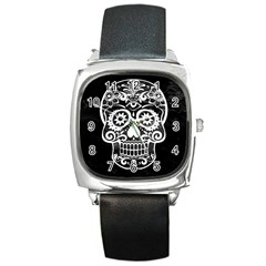 Skull Square Metal Watches by ImpressiveMoments