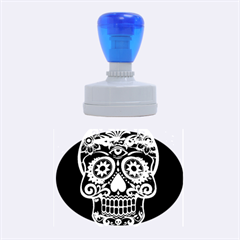 Skull Rubber Oval Stamps by ImpressiveMoments